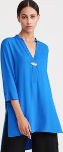Niebieska bluzka Reserved z dekoltem w kształcie litery v