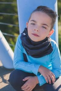 Niebieski szalik dziecięcy M-art-a-baby