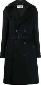 Czarny płaszcz SAINT LAURENT w stylu casual