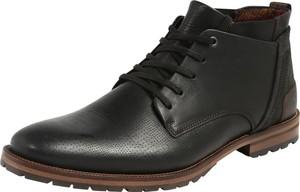 Czarne buty zimowe Bullboxer ze skóry