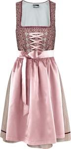 Sukienka bonprix bpc bonprix collection rozkloszowana midi w stylu etno