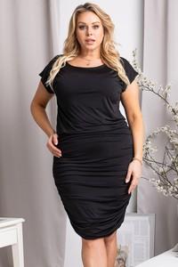 Czarna sukienka KARKO z okrągłym dekoltem mini