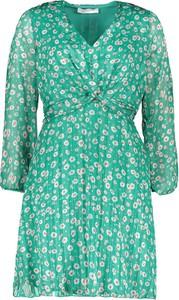 Sukienka Garden Party z długim rękawem z dekoltem w kształcie litery v