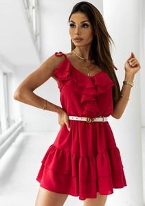 Czerwona sukienka Latika rozkloszowana mini