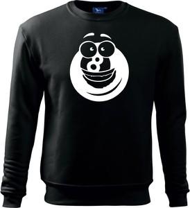 Czarna bluza TopKoszulki.pl w młodzieżowym stylu z dzianiny