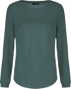 Zielona bluzka Nife w stylu casual z okrągłym dekoltem