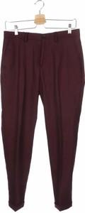 Czerwone spodnie ZARA ze sztruksu