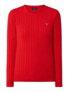 Czerwony sweter Gant z bawełny