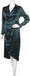 Sukienka Never Fully Dressed midi z dekoltem w kształcie litery v z długim rękawem