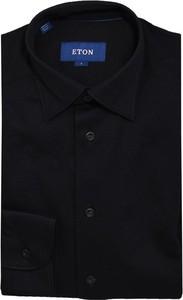 Czarna koszula Eton z dżerseju