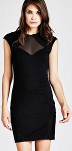 Czarna sukienka Guess bez rękawów dopasowana w stylu klasycznym