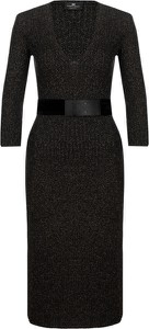 Czarna sukienka Elisabetta Franchi midi dopasowana