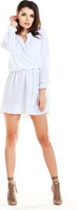 Sukienka Awama z długim rękawem z tkaniny w stylu boho