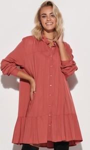 Czerwona sukienka Makadamia w stylu casual