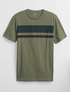 Zielony t-shirt Gap w stylu casual z krótkim rękawem