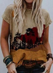 Brązowa bluzka Sandbella w stylu boho