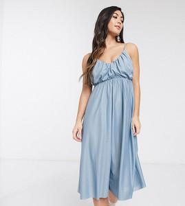 Niebieska sukienka Asos na ramiączkach