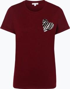 Czerwony t-shirt Marie Lund w stylu casual z okrągłym dekoltem