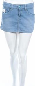 Niebieska spódnica Lee w młodzieżowym stylu mini