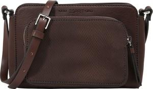 Brązowa torebka Esprit średnia ze skóry na ramię