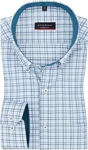 Niebieska koszula Eterna z bawełny w stylu casual