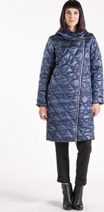 Granatowy płaszcz Monnari