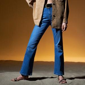 Niebieskie spodnie Reserved w street stylu