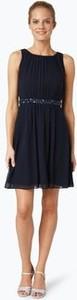 Sukienka Marie Lund z okrągłym dekoltem prosta mini