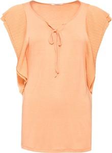 Pomarańczowy t-shirt bonprix BODYFLIRT