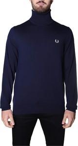 Niebieski sweter Fred Perry w stylu casual