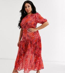 Złota sukienka Never Fully Dressed Plus maxi