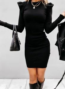 Sukienka Cikelly ołówkowa mini z długim rękawem