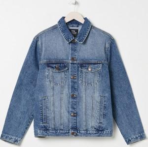 Niebieska kurtka Sinsay z jeansu