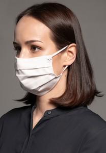 MASKKA 1539 Bawełniana maska Classic Biały Bawełna 100%