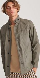 Zielona kurtka Reserved w stylu casual z bawełny