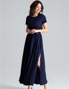 Sukienka LENITIF maxi z krótkim rękawem