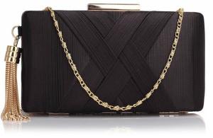 0350e534915ea Czarna torebka Wielka Brytania do ręki w stylu glamour