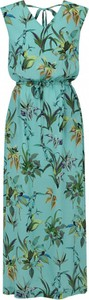 Zielona sukienka L'AF z tkaniny maxi