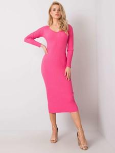 Sukienka Sheandher.pl w stylu casual z długim rękawem midi