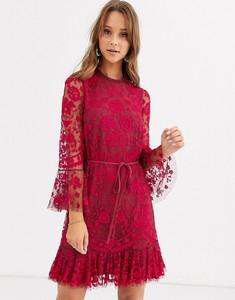 Czerwona sukienka Needle & Thread