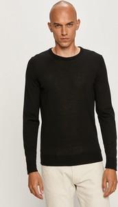 Czarny sweter Strellson z wełny w stylu casual