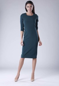 Zielona sukienka Nommo z długim rękawem midi
