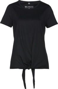 Czarny t-shirt bonprix bpc selection w młodzieżowym stylu z krótkim rękawem