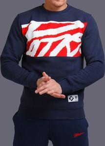 Niebieska bluza Patriotic z żakardu