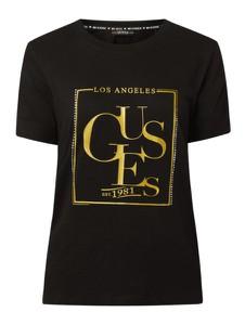 T-shirt Guess z bawełny z krótkim rękawem w młodzieżowym stylu