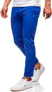 Niebieskie chinosy Denley z bawełny