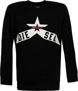 Czarna bluza Diesel Clothes w młodzieżowym stylu z bawełny