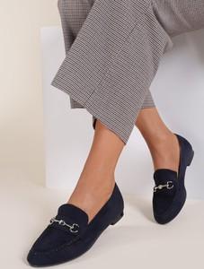 Granatowe półbuty Renee w stylu casual