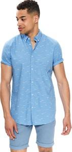 Niebieska koszula Top Secret z krótkim rękawem