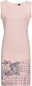 Różowa sukienka bonprix BODYFLIRT bez rękawów z okrągłym dekoltem mini